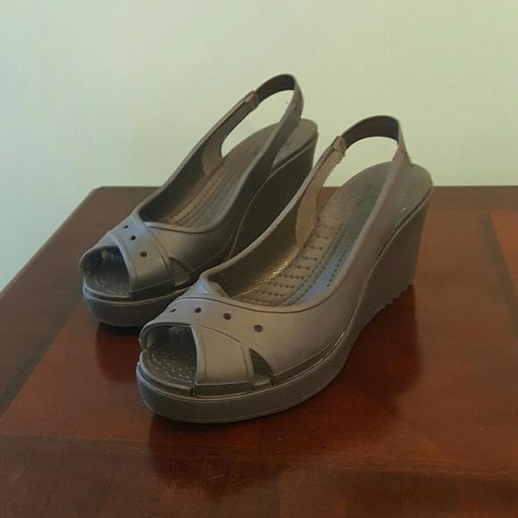 48a6f1b00 CROCS Shoes - Crocs slingback wedge